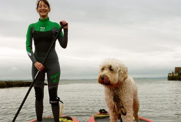 stand up paddling in Enniscrone with Harbour SUP and Sail