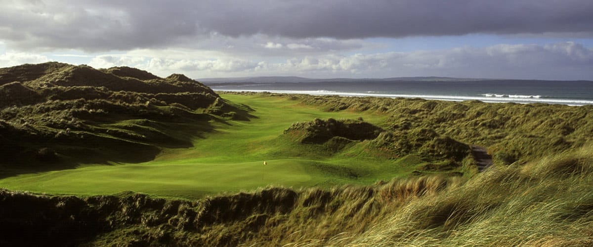 the greens at Enniscrone golf club - one of the best places for golf in Sligo