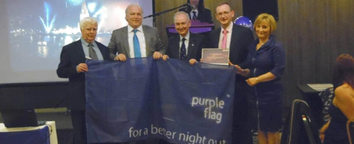 Ballina Co. Mayo wins Purple Flag Award