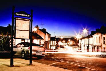 Crossmolina town by night