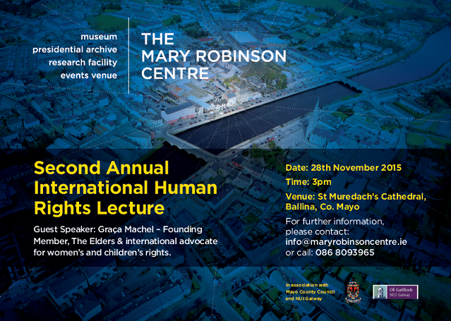 Mary Robinson Centre's Second Annual International Human Rights Lecture