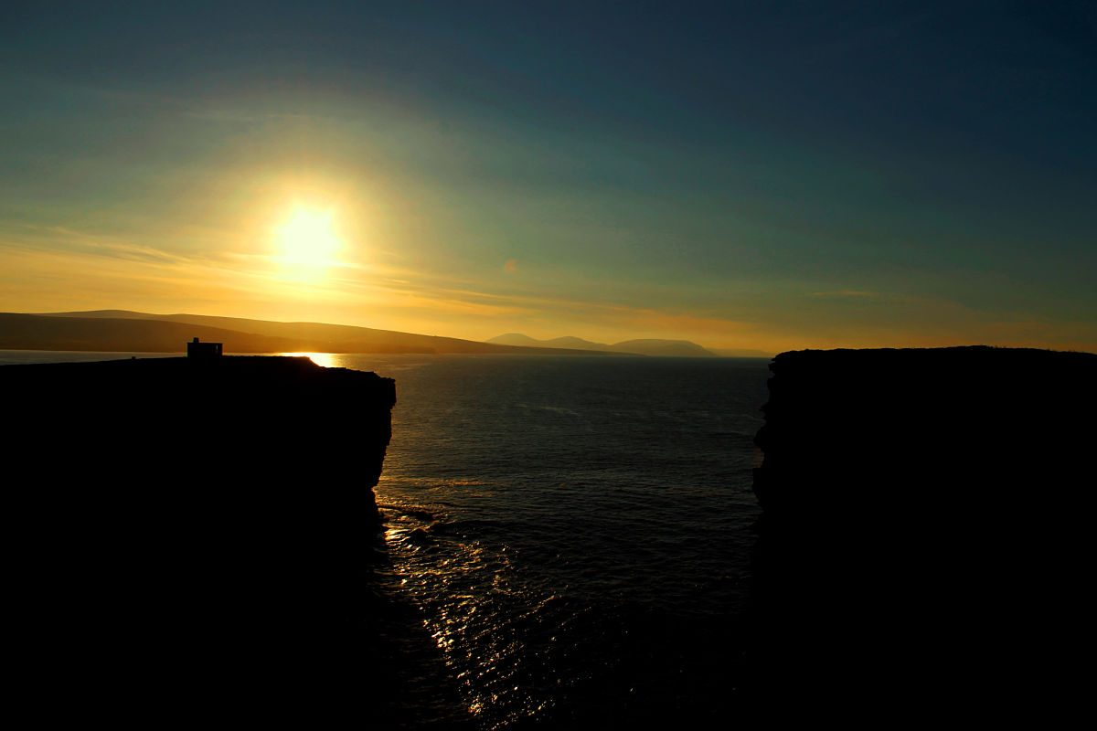Downpatrick Head Sunset