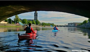 kayak on the moy with paddle and pedal