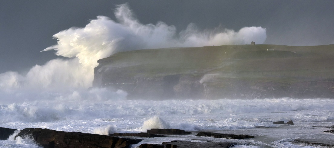 Downpatrick Head, photographed during the recent 'weatherbomb' off the coast of Ballycastle, Co. Mayo. Pic: Paul Doran / Belleek Castle.