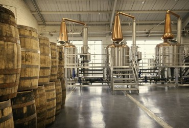 The Connacht Distillery three pot stills