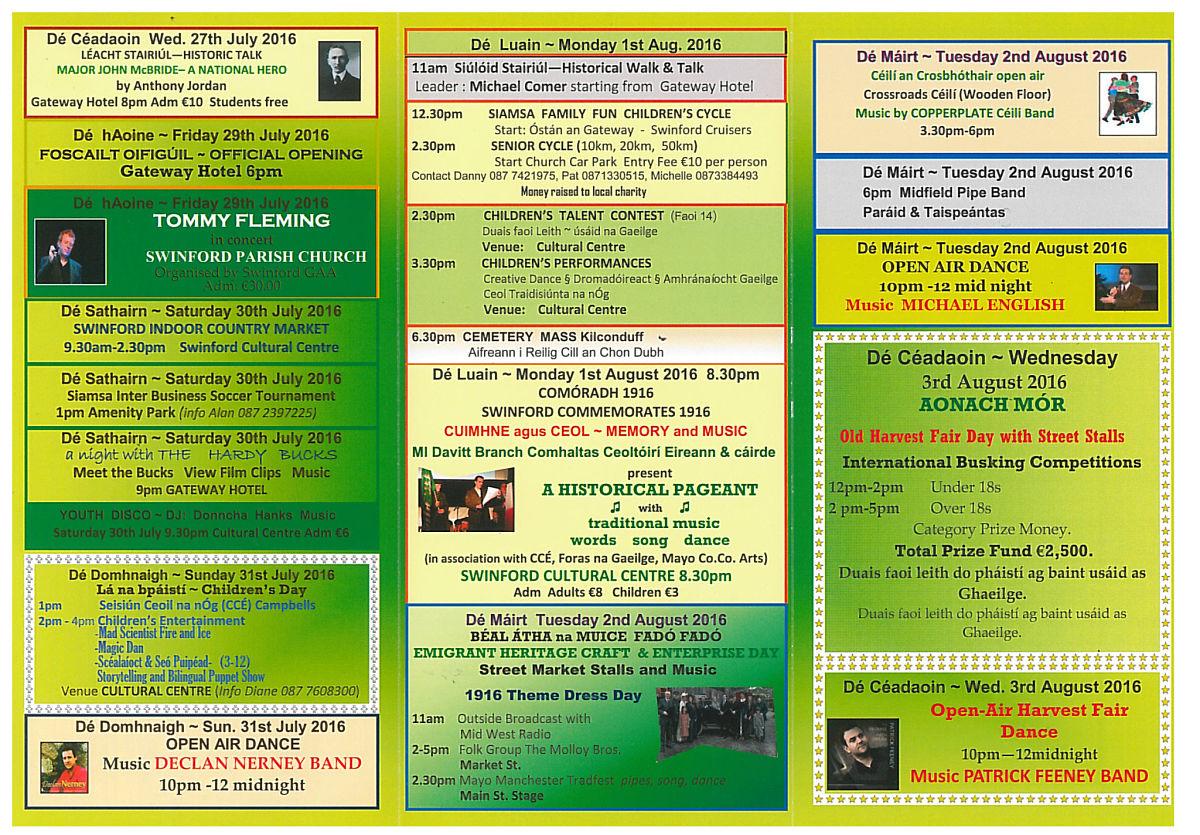 Siamsa Sraide Programme 2016