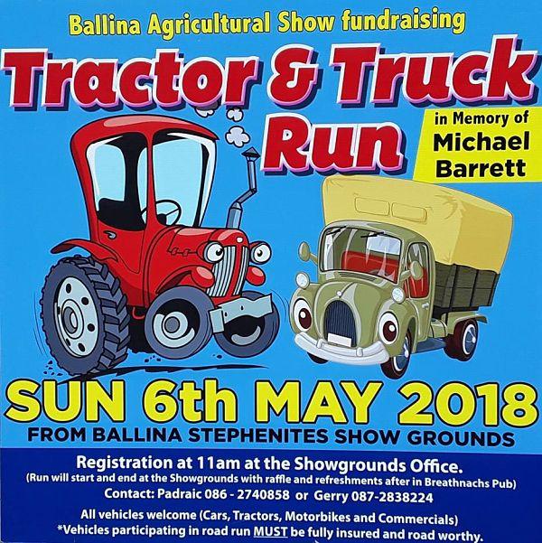 Ballina Agricultural Show 2018 Tractor Run
