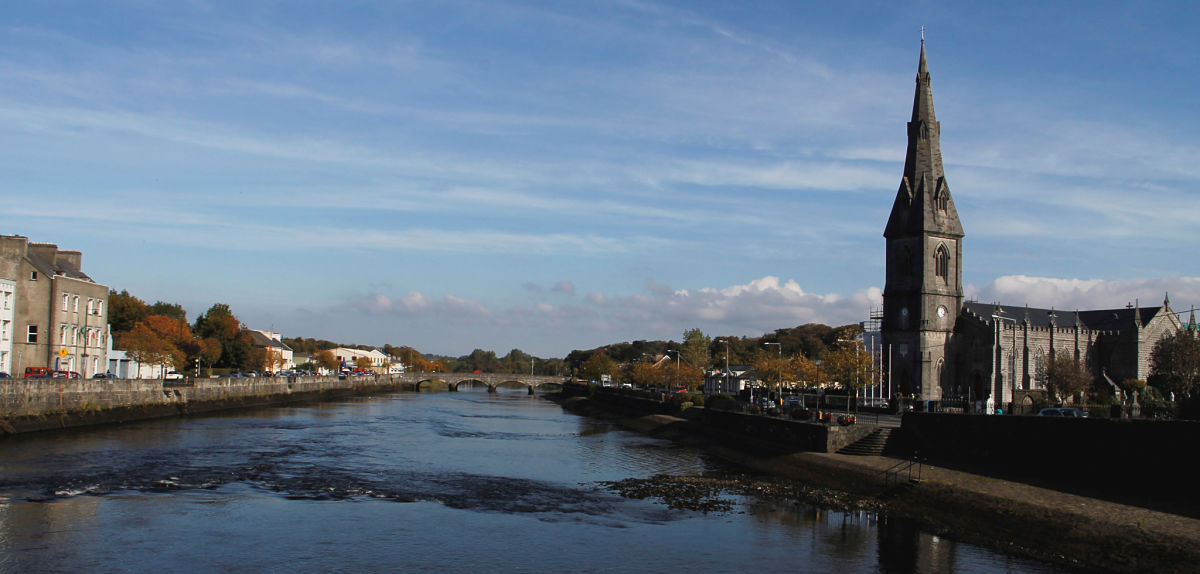 River Moy Ballina town fishing on the river Moy