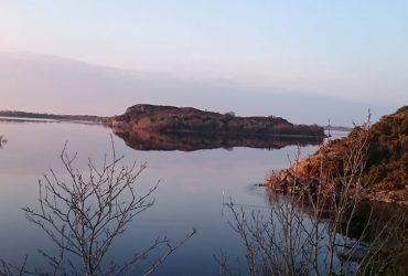Fishing on Lough Conn Co. Mayo Pontoon
