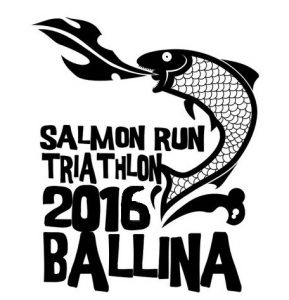 Ballina triathlon Salmon run Triathlon 2016 logo