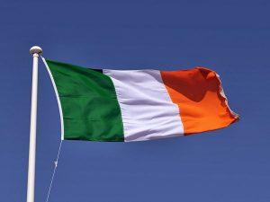 Irish flag french irish history