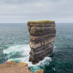 The Dun Briste sea stack climb