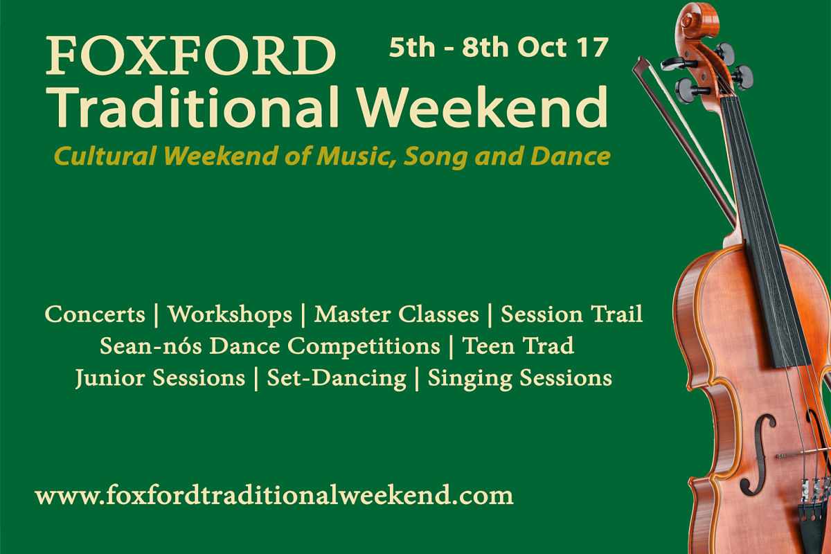 Foxford Traditional Weekend 2017 5th - 8th Oct 17