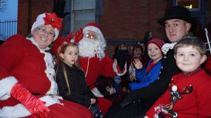Mrs Claus Santa's Grotto Frosty Salmon Festival Ballina North Mayo Christmas in North Mayo
