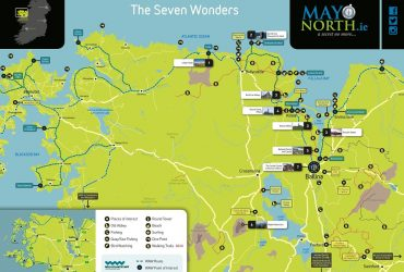 Seven Wonders of Mayo North Map Ballina Co. Mayo Ireland