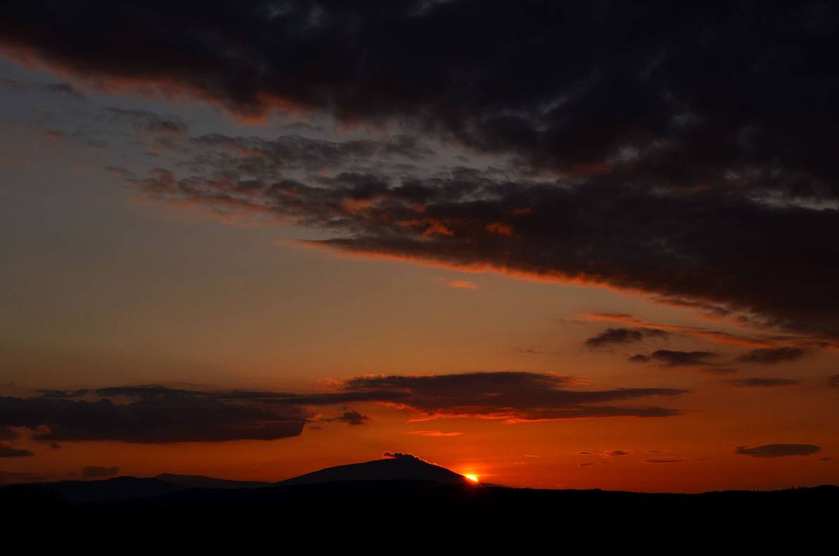 Sunset over Nephin viewed from Swinford Co Mayo Nephin hike