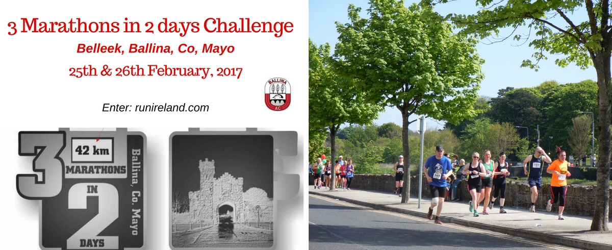 3 Marathons in 2 Days Challenge Belleek Ballina