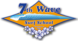 7th Wave surf school logo