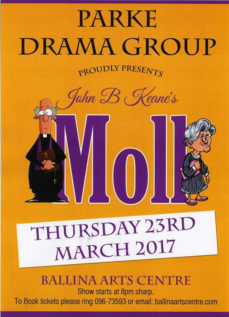 Parke Drama Group Brings Moll To Ballina Arts Centre