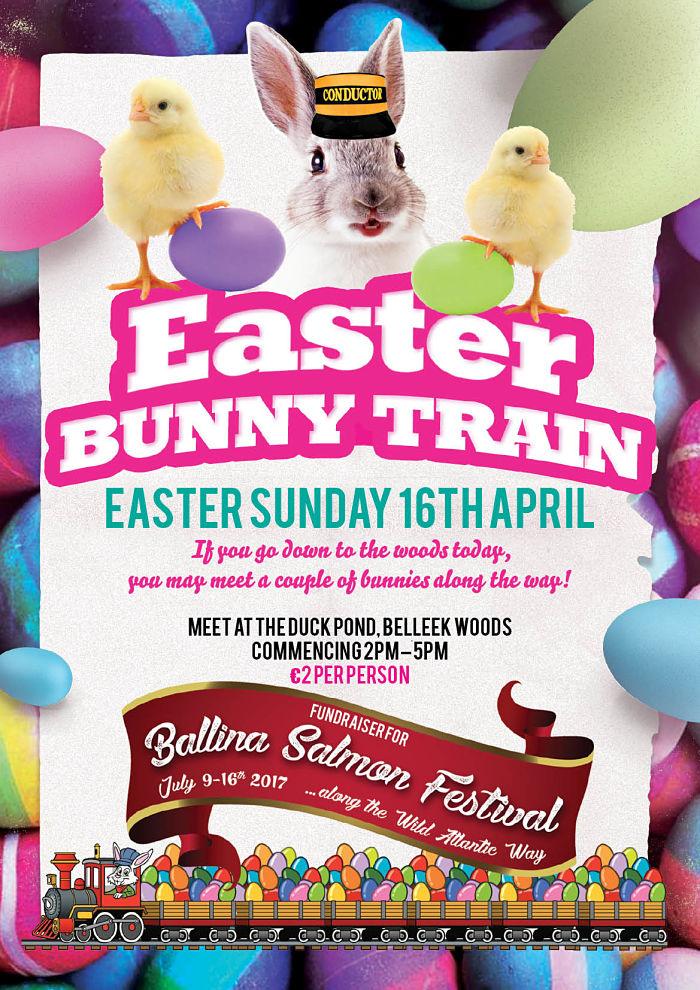 Ballina Salmon Festival Easter Bunny Train