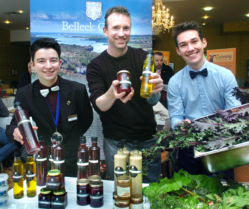 Team from Belleek Castle Kitchen pictured at the first Mayo North Food Tourism Seminar