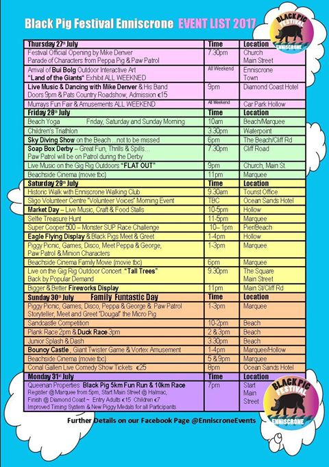 Enniscrone black pig festival