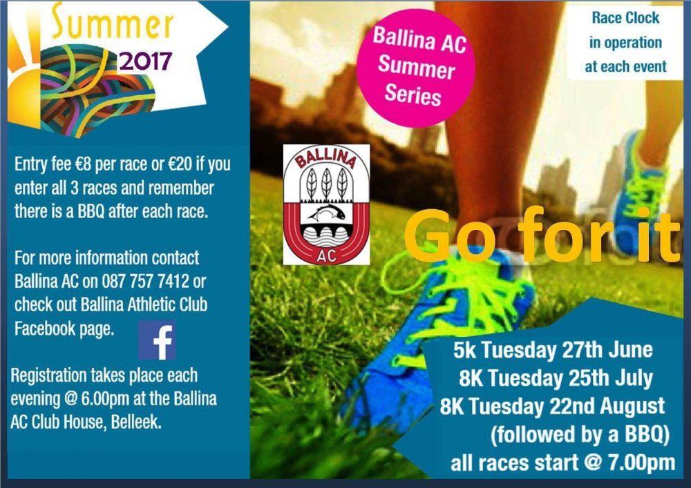 Ballina Athletic Club Summer Series 2017, running, race. ballina