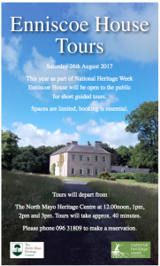 National Heritage Week 2017 National Heritage Week in Mayo North Enniscoe House Tours