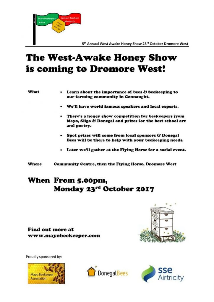 West-Awake Honey Show Cromore West Mayo Beekeepers Association