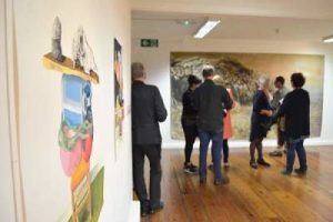Opening of Human Chain Dutch Contemporary Drawings art exhibition at Ballina Arts Centre September 2017 (until October 2017) Human Chain exhibition of art by seven Dutch former resident artists at Ballinglen Arts Foundation Ballycastle Co Mayo What's on in Ballina Arts Centre this October 2017