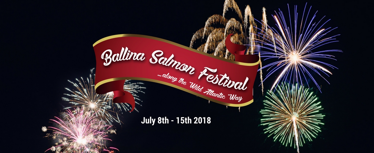 Ballina Salmon Festival Mayo North website header fireworks St Muredach's Cathedral Ballina_opt
