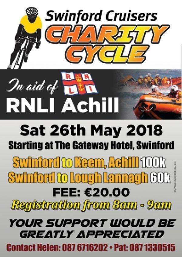 Swinford Cruisers Charity Cycle RNLI Achill