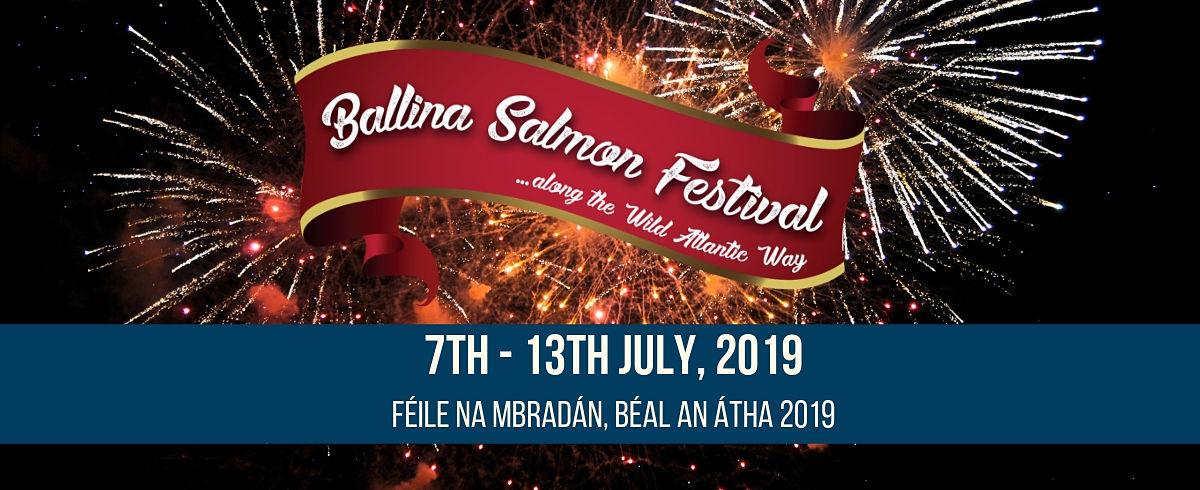 Ballina Salmon Festival Mayo North website cover