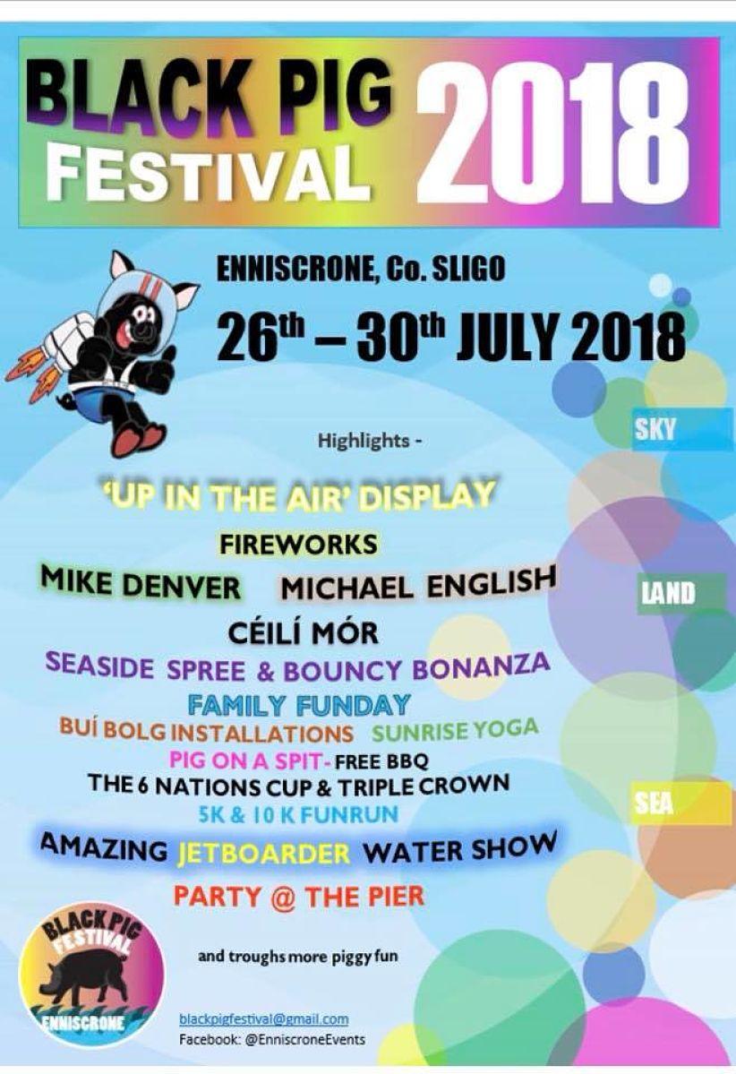 Enniscrone Festival Enniscrone Black Pig Festival Enniscrone Co Sligo Wild Atlantic Way North Mayo
