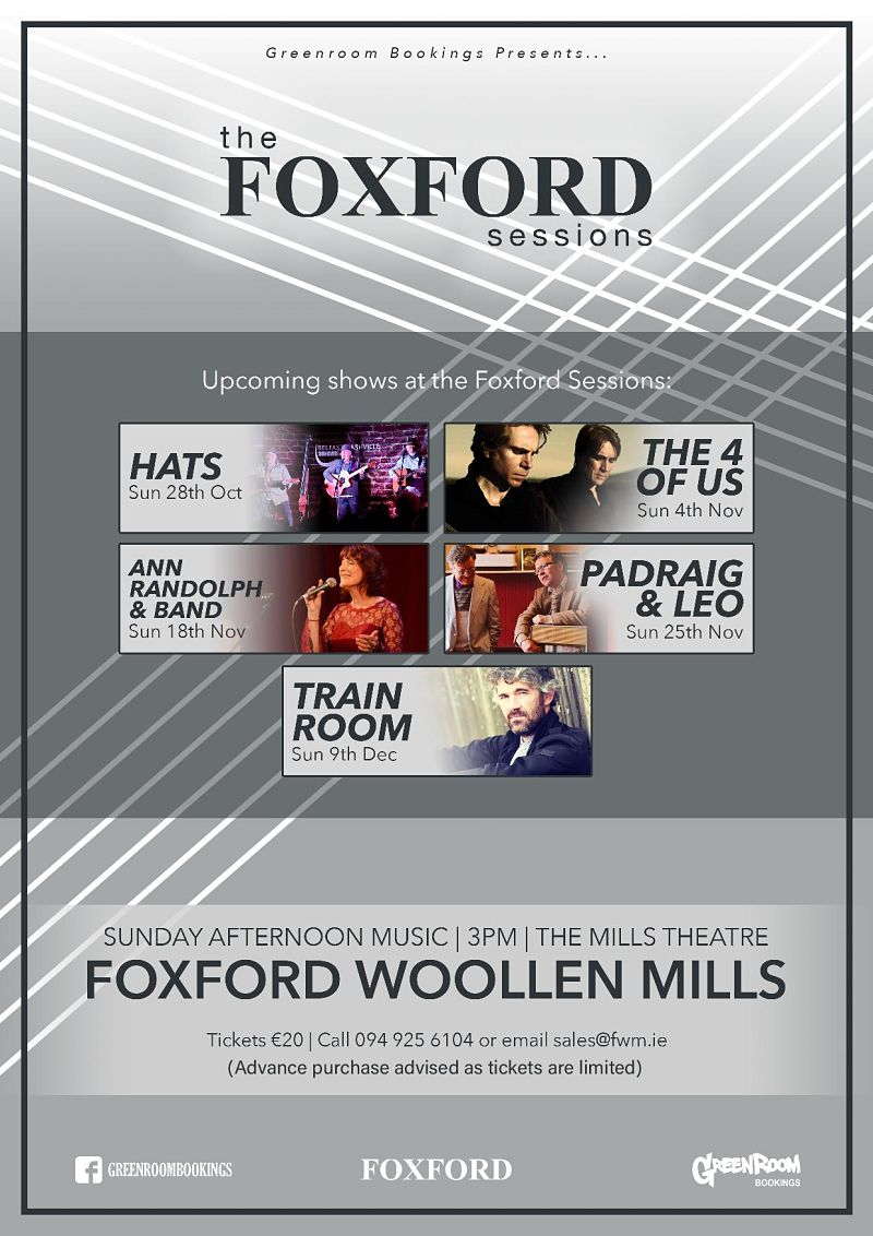 Sunday Sessions with Greenroom Bookings in The Mills Theatre at Foxford Woollen Mills