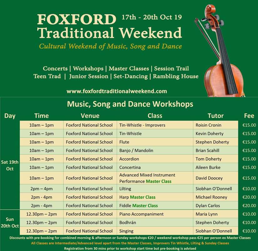 Foxford Traditional Weekend 2019 Tutorials