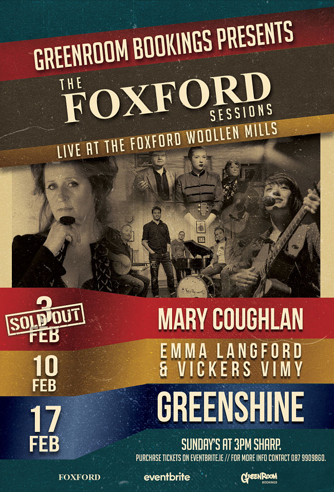 Sunday Music Sessions with Greenroom Bookings in The Mills Theatre at Foxford Woollen Mills poster