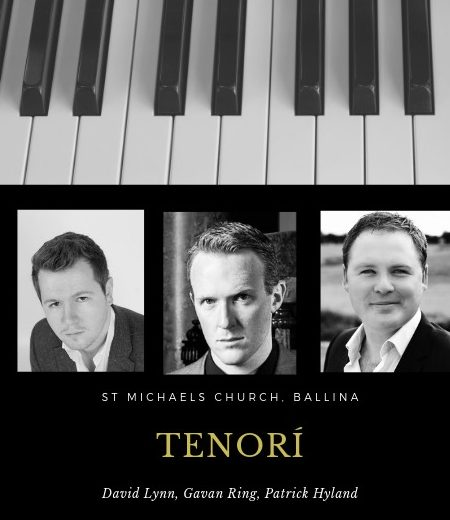 Tenori performing in Ballina, a new Tenor Group, compromising of three of Ireland Finest Tenors