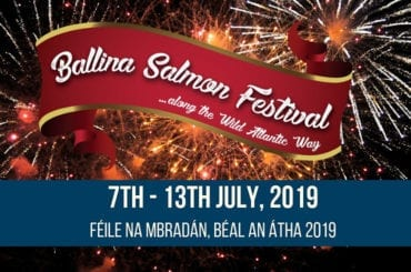 Ballina Salmon Festival Mayo North website cover