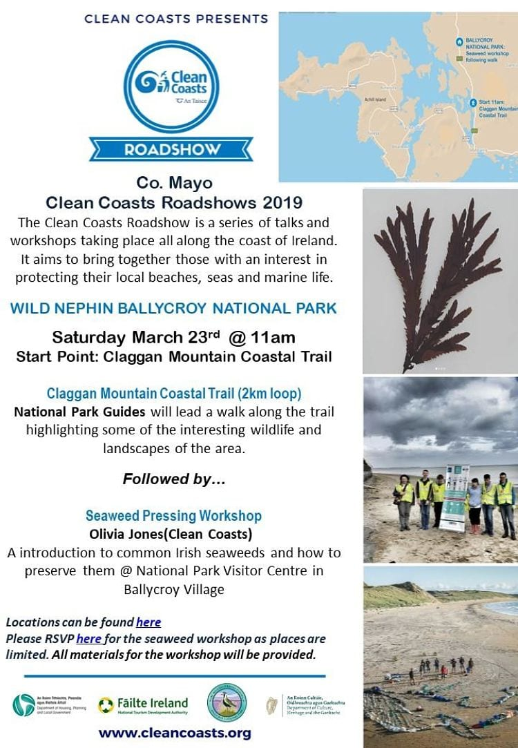 Clean Coasts Roadshow Poster Wild Nephin Ballycroy National Park Mayo