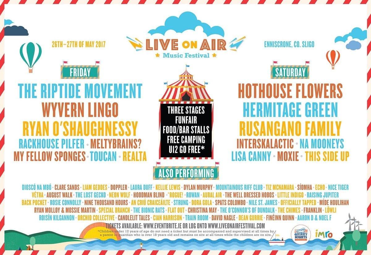 Live on Air music festival Enniscrone