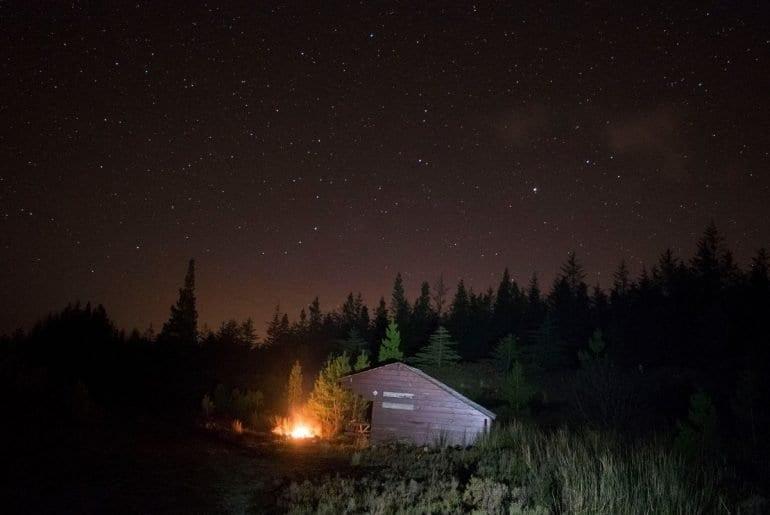 Camping in Mayo Dark Sky Park