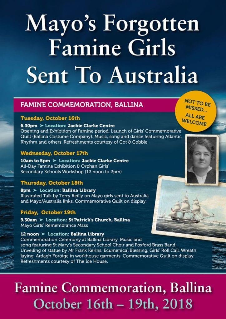 Mayo Famine Girls orphan girl memorial Ballina Australia