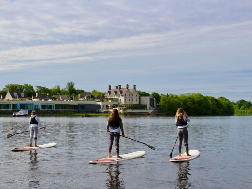 Standing up paddling SUP river Moy Ballina Co Mayo Ireland