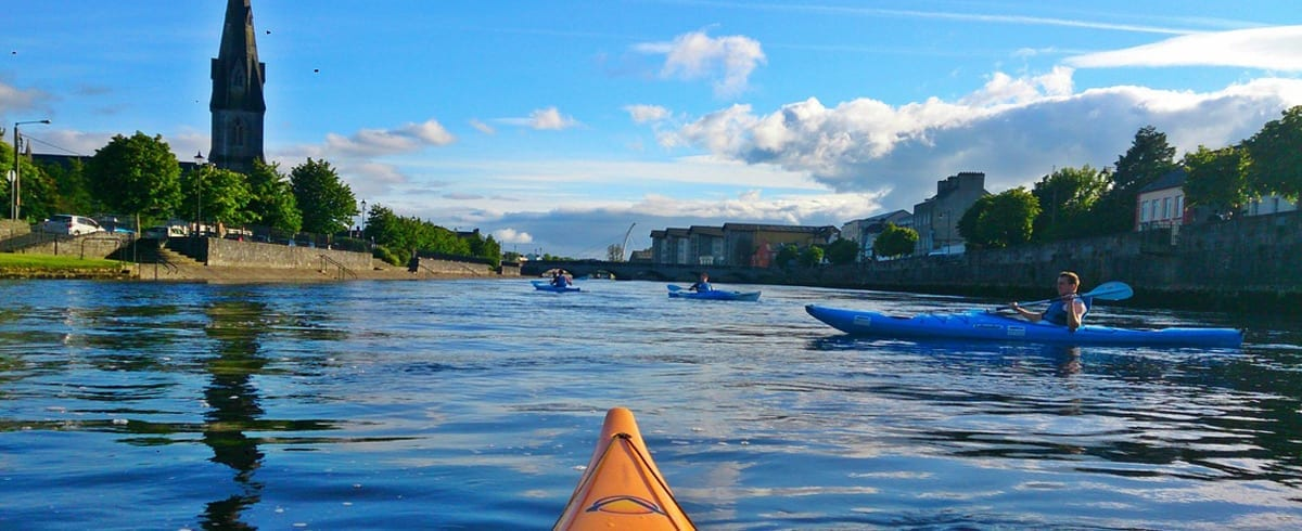 Top 10 things to do in Mayo North - kayak on the river Moy with Paddle and Pedal