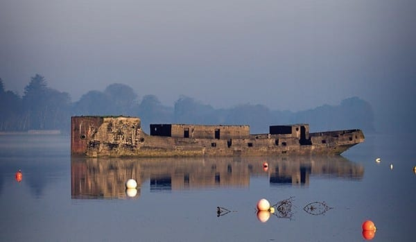 The SS Creteboom - The concrete ship on the River Moy