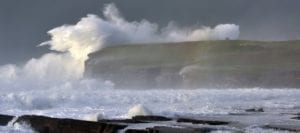 The Ceide Coast - Downpatrick Head, photographed during the recent 'weatherbomb' off the coast of Ballycastle, Co. Mayo. Pic: Paul Doran / Belleek Castle.