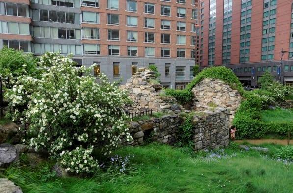 The Irish Hunger Memorial in Manhattan in New York City USA