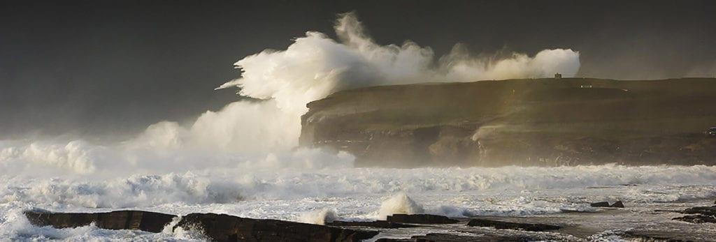 Wild Atlantic Waves at Downpatrick Head, Ballycastle, County Mayo, Ireland.