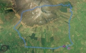 Nephin up and over challenge route 2019
